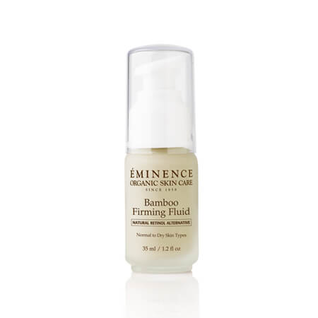 Eminence Bamboo Firming Fluid, Organic, Organics, eminenstore.com, Retinol alternative, natural, Swiss Green Apple Stem Cells, Age Corrective Collection, Age Defying, chicory root, coconut water, moisturizer, proteins, vitamins, minerals, best seller, best selling, featured product